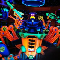 Photo taken at Buzz Lightyear's Space Ranger Spin by Wendy S. on 5/3/2012