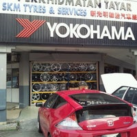 Photo taken at SKM Tyres & Services by song k. on 7/16/2012