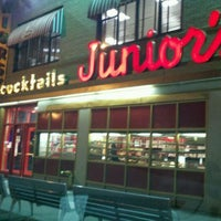 Photo taken at Junior's Restaurant by Lauren L. on 11/7/2011