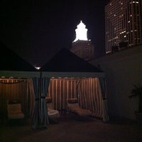 Photo taken at Le Pavillon rooftop pool by Sacha on 6/17/2011