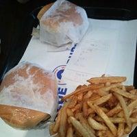 Photo taken at Blue 9 Burger by Lauren L. on 9/11/2011