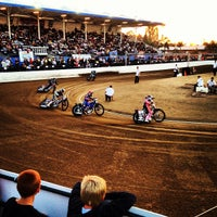Photo taken at Costa Mesa Speedway by McCanne S. on 5/20/2012