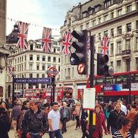 Photo taken at Oxford Circus London Underground Station by Jiri K. on 6/4/2012