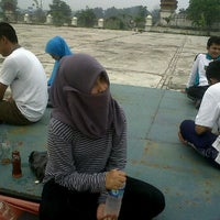 Photo taken at Lapangan Upacara Kantor Bupati by Dhyan on 9/8/2011