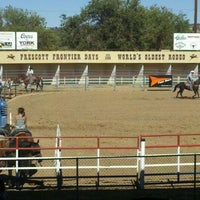 Photo taken at Prescott Rodeo Grounds by Chelsea S. on 10/15/2011