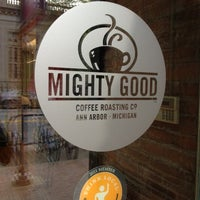 Photo taken at Mighty Good Coffee by Satish on 7/24/2012