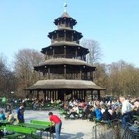 Photo taken at Biergarten am Chinesischen Turm by Sascha P. on 3/23/2012