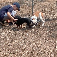 Photo taken at Piedmont Park Dog Park by Mark T. on 6/11/2011