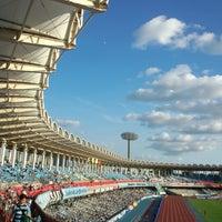 Photo taken at Todoroki Athletics Stadium by Yukiha K. on 8/25/2012