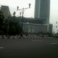 Photo taken at Halte Imam Bonjol by Dewi A. on 11/16/2011