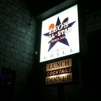 Photo taken at Leo's All-Star Sports Bar & Grill by Matthew H. on 4/7/2011