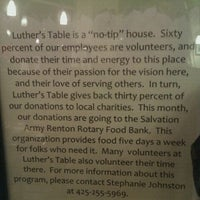 Photo taken at Luther's Table by Camille on 1/1/2012