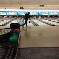 Photo taken at Royal Lanes Bowling Alley by Manuela O. on 7/31/2012