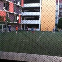 Photo taken at Bina bangsa school stadium by Maxie N. on 6/17/2012