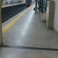 Photo taken at Metro Entrecampos [AM] by Kader B. on 3/10/2012