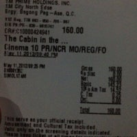 Photo taken at SM Cinema North Edsa (West Wing) by Jan Michael A. on 5/11/2012