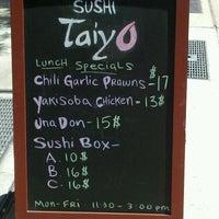 Photo taken at Sushi Taiyo by David R. on 7/17/2012