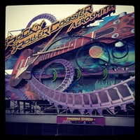 Photo taken at Rock'n' Roller Coaster With Aerosmith by James D. on 5/8/2012