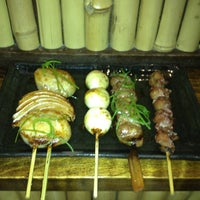 Photo taken at Yakitori Koshiji by Cara P. on 6/10/2012
