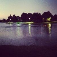 Photo taken at Addison Les Lacs Duck Pond by Elysa E. on 5/25/2012