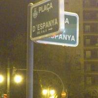Photo taken at Plaça d'Espanya by Victor S. on 12/16/2011