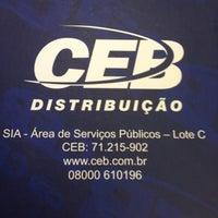 Photo taken at Companhia Energética de Brasília (CEB) - Distribuição by Paloma C. on 12/29/2011
