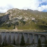 Photo taken at Lago Fedaia by Giorgio on 9/17/2011