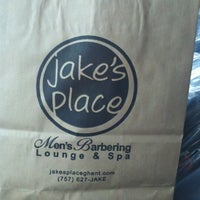 Photo taken at Jake's Place Men's Salon & Spa by Jarod G. on 7/17/2012