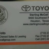 ... Photo Taken At Sterling McCall Toyota By Daniel C. On 1/19/2012 ...