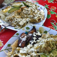 """Photo taken at Chilaquiles de """"Socorrito"""" by Patricia G. G. on 9/4/2012"""