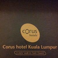 Photo taken at Corus Hotel Kuala Lumpur by Mel on 6/10/2012