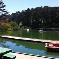 Photo taken at Stow Lake Boat House by Liz W. on 6/20/2012