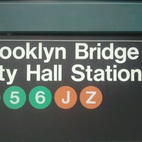 Photo taken at MTA Subway - Brooklyn Bridge/City Hall/Chambers St (4/5/6/J/Z) by The Official Khalis on 11/6/2011