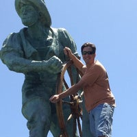 Photo taken at The Helmsman Statue by David A. on 6/23/2012