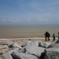 Photo taken at Pantai Cahaya Bulan (PCB) by Muhamad A. on 1/23/2012