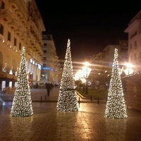 Photo taken at Aristotelous Square by Γιώτα Μ. on 12/23/2011
