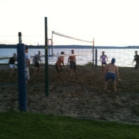 Photo taken at Houghton Beach Volleyball by Hareesh K. on 7/19/2011