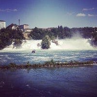 Photo taken at Rheinfall by Alexandra on 6/23/2012