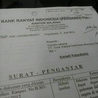 Photo taken at BRI Cabang Banjarnegara by Ryan V. on 7/5/2012