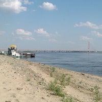 Photo taken at Берег Оби by Kristina R. on 7/28/2012