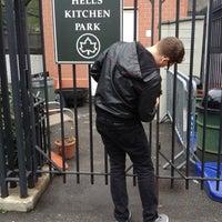 Photo taken at Hell's Kitchen Garden by Gabriel O. on 5/4/2012