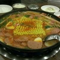 Photo taken at 신가네 부대찌개 by MyoungHee L. on 1/9/2012