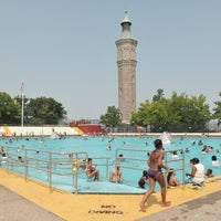 Photo taken at Highbridge Park Pool by NYC Parks on 7/19/2012