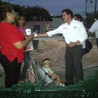Photo taken at Parque Manzana 115 by MauricioSahui on 6/8/2012