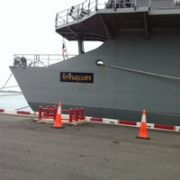 Photo taken at HTMS Chakri Naruebet by Jun S. on 5/3/2012