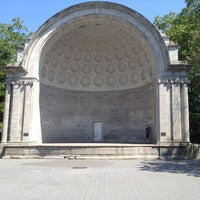 Photo taken at Naumburg Bandshell by Katie F. on 8/4/2012