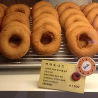 Photo taken at hara donuts by Milano L. on 4/1/2012