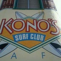 Photo taken at Kono's Surf Club Cafe by Larry H. on 3/21/2012