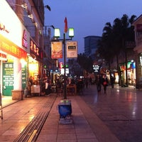 Photo taken at Guilin walking street by Katie A. on 3/19/2012