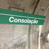 Photo taken at Consolação Station (Metrô) by Leandro Angel S. on 8/12/2012